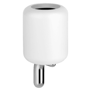 Gessi goccia Goccia Wall Mounted Glass Tumbler Holder in White GRES Accessories