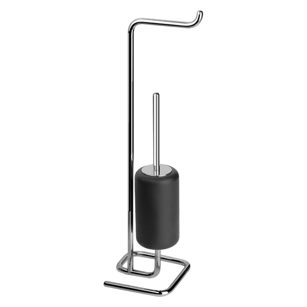 Gessi goccia Goccia Standing set with paper roll holder and black GRES brush holder. Accessories