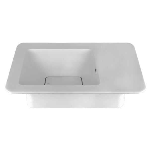 Gessi ispa ISPA Deck Mounted Basin W/Side Ledge – Cristalplant Basins