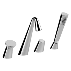 Gessi cono Cono Four Hole Bath Mixer Wall & Basin Mixers