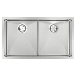 Abey abey-piazza Piazza Double Square Bowl Kitchen Sinks