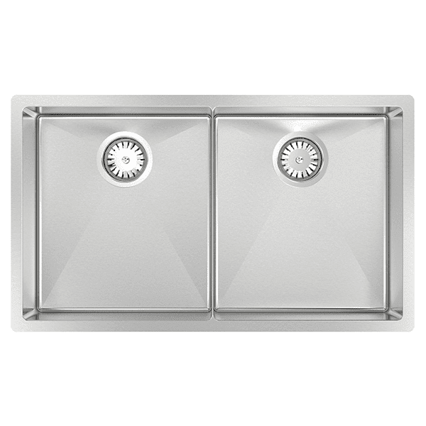 cr340d abey piazza double square bowl kitchen - Abey Kitchen Sinks