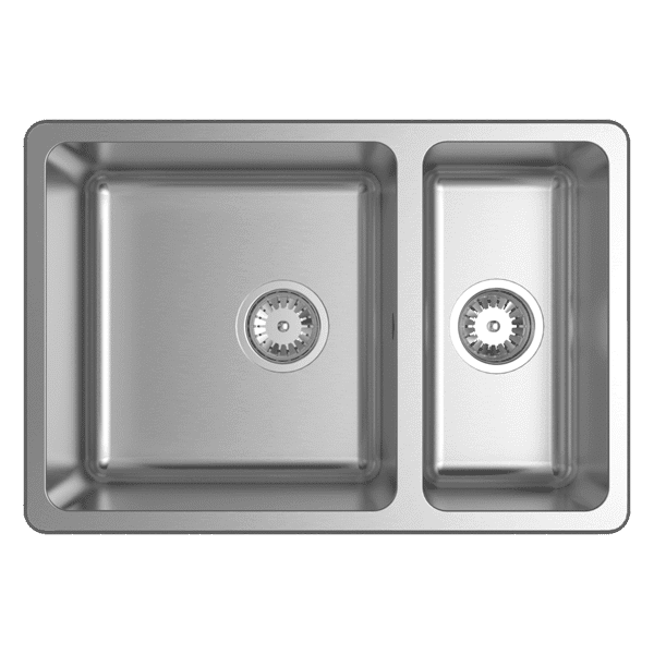 abey lago lago inset one one third bowl image - Abey Kitchen Sinks