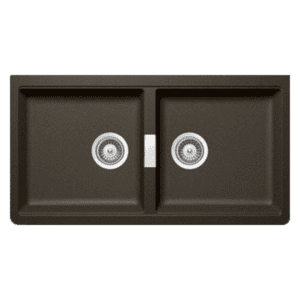 Schock horizont Schock Double Bowl Undermount Bronze Kitchen Sinks