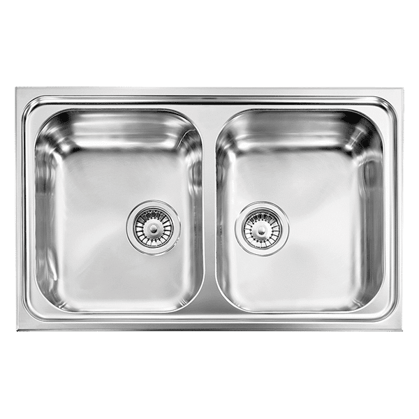Kitchen Sinks Double Bowl And Drainer : Kitchen > Sinks > Zenith > Zenith Double bowl No Drainer