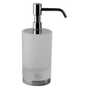 Gessi Emporio emporio Emporio Standing Soap Dispenser in White Glass Accessories