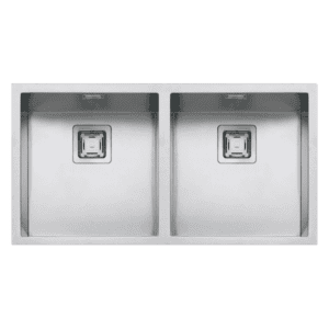 Barazza cubo Barazza Cubo Double Bowl Kitchen Sinks