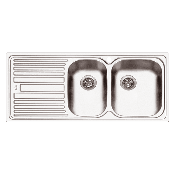 dl180rdl180l abey deluxe 180 1 34 bowl kitchen - Abey Kitchen Sinks