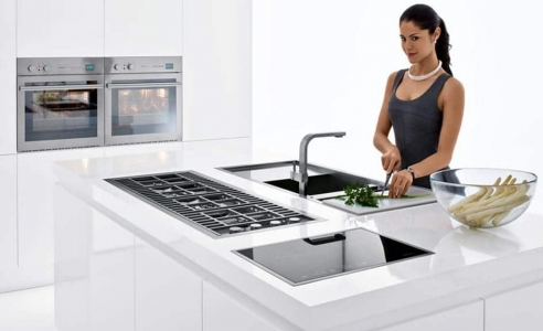 Barazza Lab Flush Cooktop Stainless Steel | Barazza Lab Built-in Oven 60cm | Barazza Lab Touch Control Built in Hob