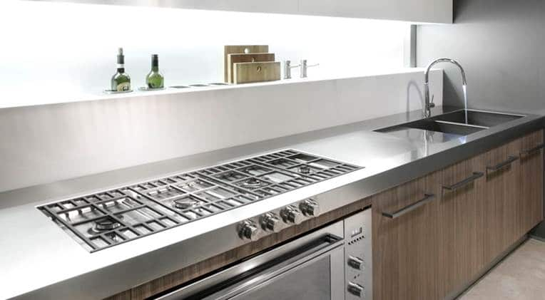 Barazza Made To Measure Benchtop | 20577 Gessi JUST  Kitchen Mixer Chrome | Canale Preparation Island Set
