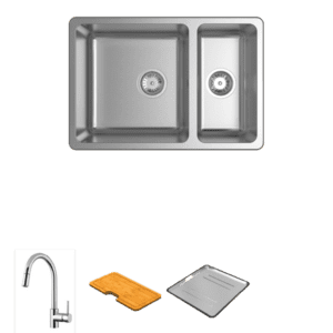Abey abey-packages Lago 180 Package with Pull-Out Kitchen Mixer Kitchen Sinks