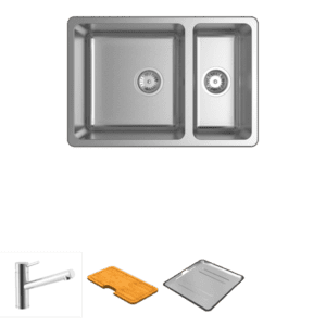 Abey abey-packages Lago 180 Package with Standard Mixer Kitchen Sinks