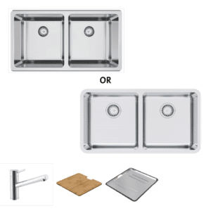 Abey abey-packages Lago 200 Package with Standard Mixer Kitchen Sinks
