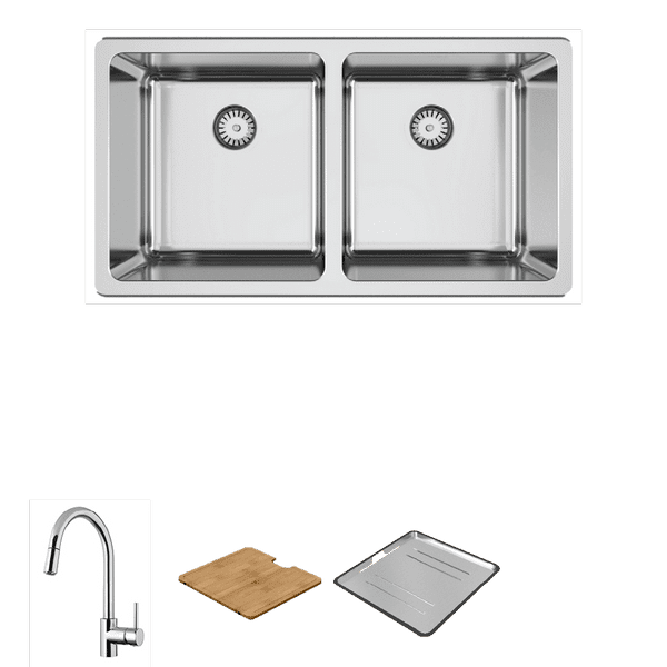 Kitchen Kitchen Sinks | Lago 200 Package with Pull-Out Mixer | Abey
