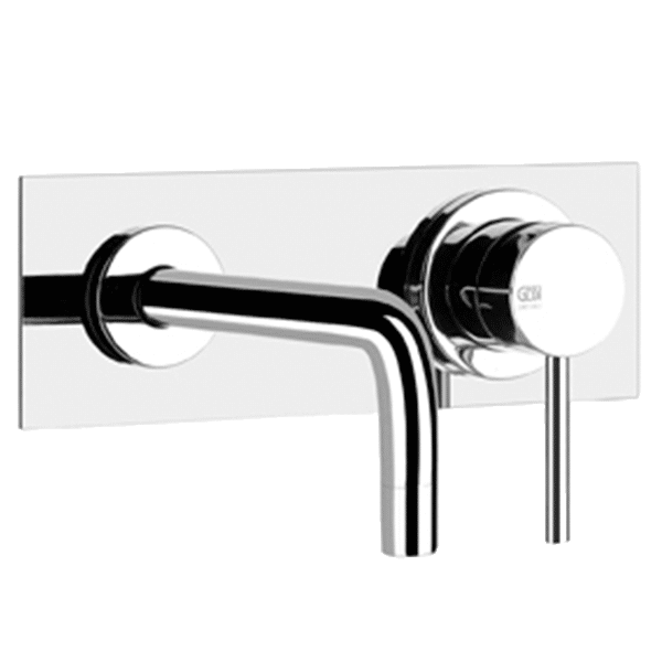 Gessi Emporio via-tortona Via Tortona Built in Wall Mixer with Spout Wall & Basin Mixers