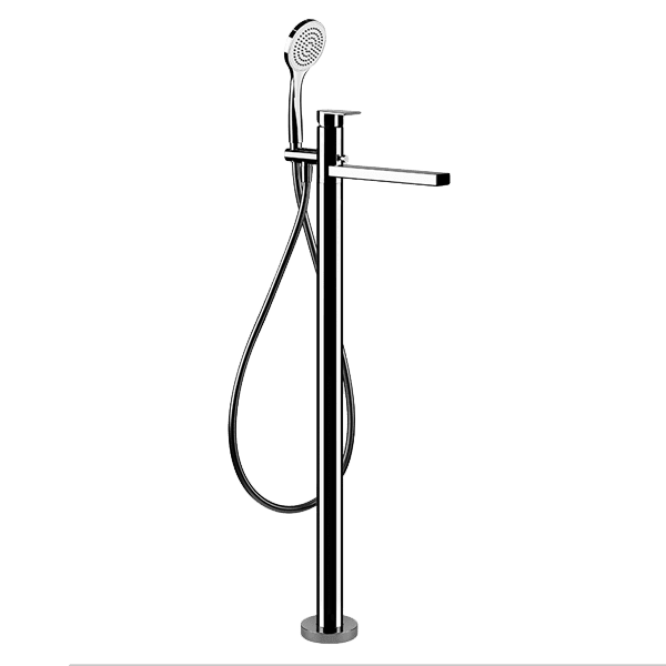 Via Manzoni Freestanding Bath Filler with Hand Shower