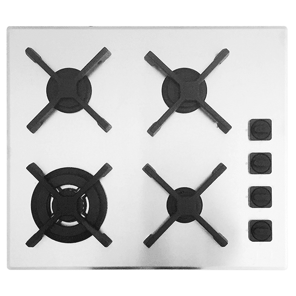 Barazza unique Unique 60cm 3 Burner Hob Satin Kitchen Appliances