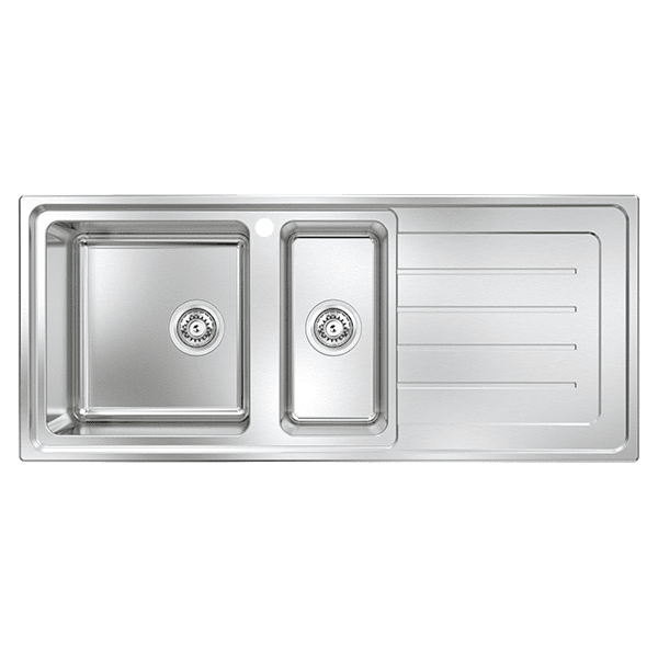 Abey  Lago Plus One & a Half Bowl with Drainer Kitchen Sinks