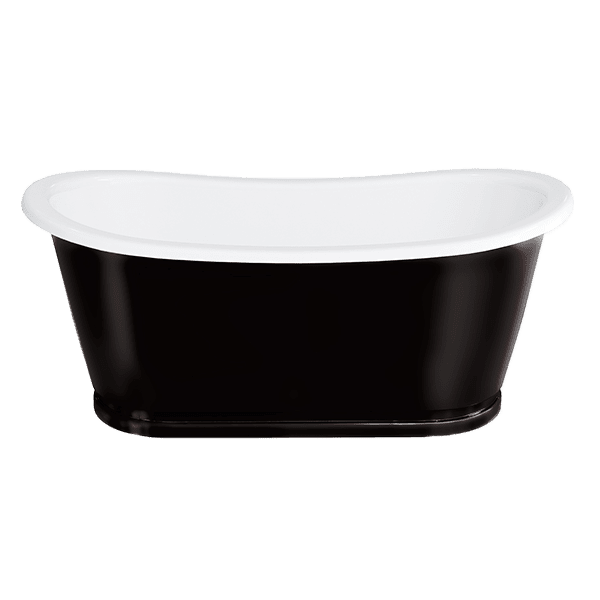 Gareth Ashton clearwater-stone Bathazar ClearStone Bath Black Stainless Steel Outer Freestanding Baths