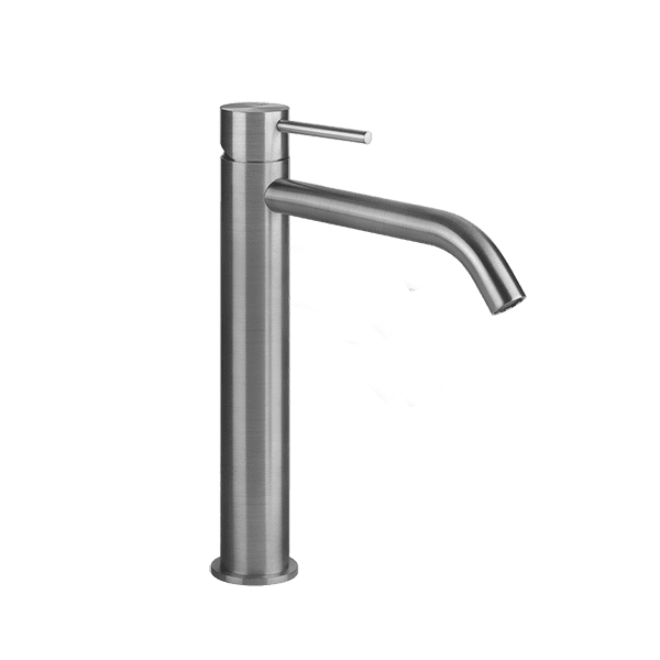 Gessi 316-flessa Flessa 316 High Basin Mixer No Pop Up Waste Wall & Basin Mixers