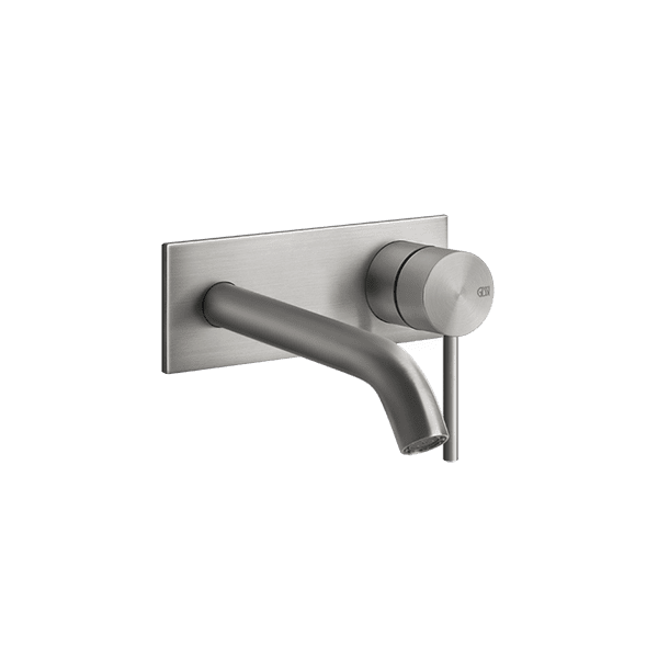 Gessi 316-flessa Flessa 316 Wall Mixer with Spout with Plate Wall & Basin Mixers