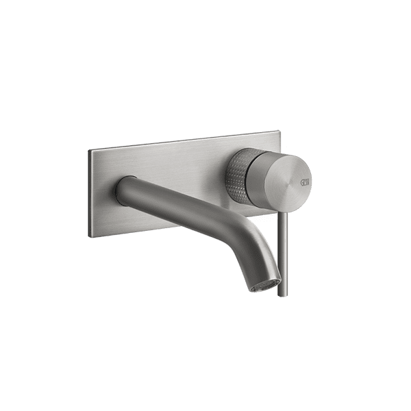 Gessi 316-cesello Cesello 316 Wall Mixer with Spout With Plate Wall & Basin Mixers