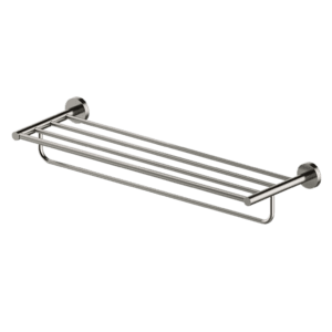 DOUBLE SHOWER RACK - BRUSHED NICKEL