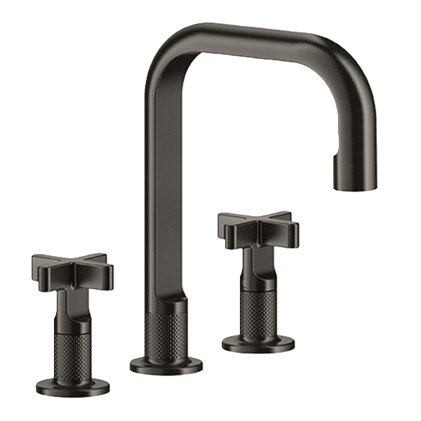 Gessi inciso Inciso Cross Handles Three-Hole Basin Mixer Basin Mixer without Waste Wall & Basin Mixers