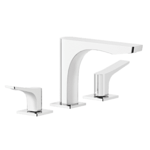 Gessi rilievo Rilievo Three Hole Basin Mixer with Spout Wall & Basin Mixers