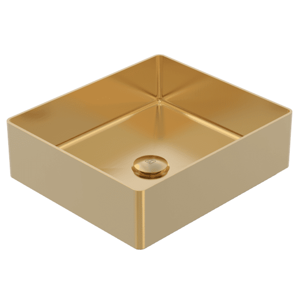 Gareth Ashton abey-304 Square 304 Stainless Steel Basin Eureka Gold Basins
