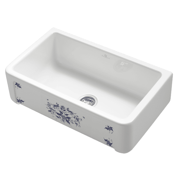 Chambord chambord-henri Chambord HENRI Mousteirs Large Single Bowl Ceramic Kitchen Sinks