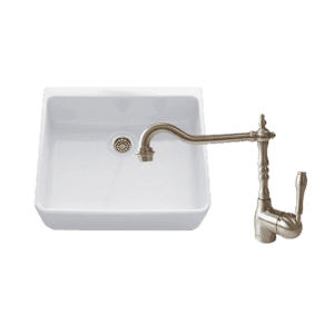 Chambord abey-packages Chambord Clotaire Small Single Bowl Sink & PALAIS Kitchen Mixer in Brushed Nickel Kitchen Sinks
