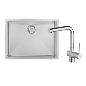 Abey abey-packages Alfresco 540 Large Bowl Sink with Drain Tray & Laios Kitchen Mixer Kitchen Sinks