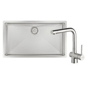 Abey abey-packages Alfresco Large Bowl Sink with Drain Tray & Laios Kitchen Mixer Kitchen Sinks