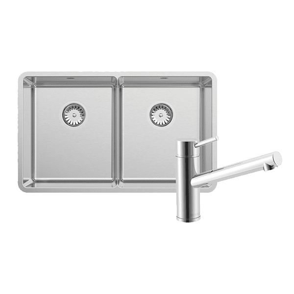 Abey abey-packages Lucia Double Bowl with 3K1 Kitchen Mixer