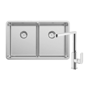 Abey abey-packages Lucia Double Bowl with 2K1 Kitchen Mixer