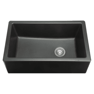 Chambord philippe-ii Chambord Philippe II Single Bowl Granite Black Kitchen Sinks