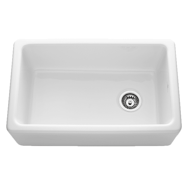Chambord philippe-ii Chambord Philippe II Single Bowl Ceramic White Kitchen Sinks