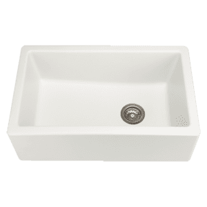 Chambord philippe-ii Chambord Philippe II Single Bowl Granite White Kitchen Sinks